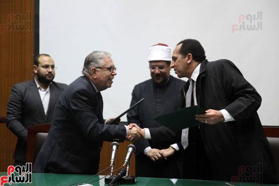 ه فعاليات توقيع بروتوكول بين وزارة الأوقاف والمعهد العالى للدراسات الإسلامية (2)