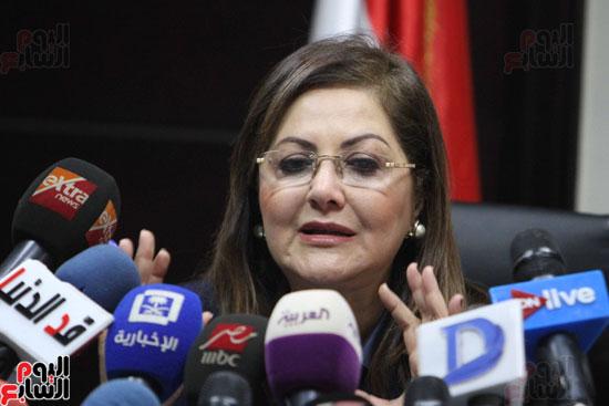 مؤتمر صحفى لوزيرة التخطيط والمتابعة والإصلاح الإدارى (16)