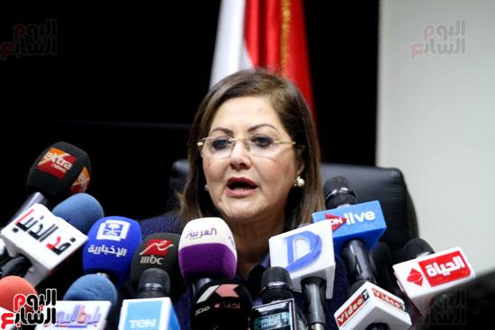 مؤتمر صحفى لوزيرة التخطيط والمتابعة والإصلاح الإدارى (15)