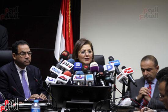 مؤتمر صحفى لوزيرة التخطيط والمتابعة والإصلاح الإدارى (14)