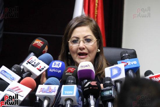 مؤتمر صحفى لوزيرة التخطيط والمتابعة والإصلاح الإدارى (7)