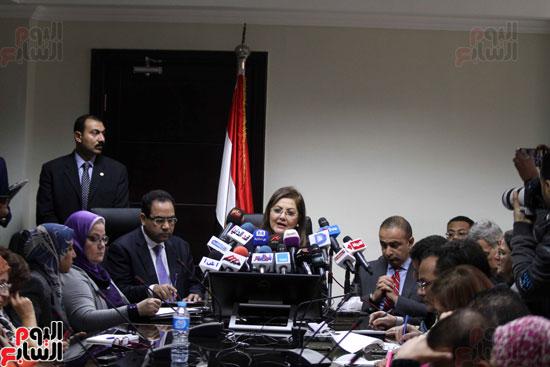مؤتمر صحفى لوزيرة التخطيط والمتابعة والإصلاح الإدارى (13)