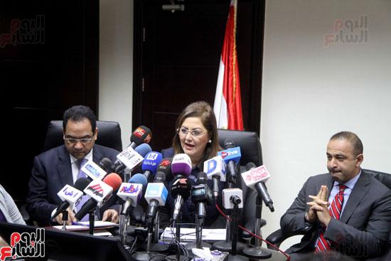 مؤتمر صحفى لوزيرة التخطيط والمتابعة والإصلاح الإدارى (2)