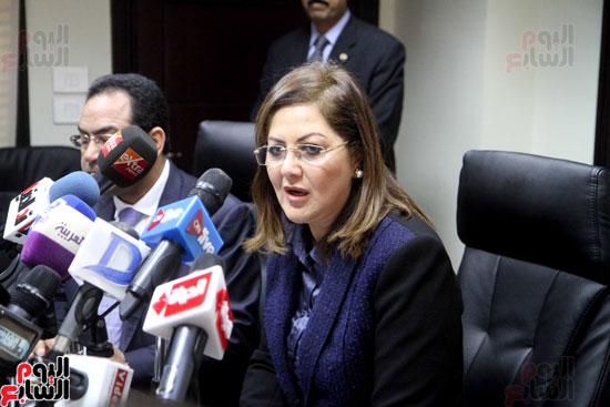 مؤتمر صحفى لوزيرة التخطيط والمتابعة والإصلاح الإدارى (4)