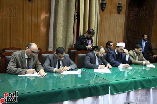 ه فعاليات توقيع بروتوكول بين وزارة الأوقاف والمعهد العالى للدراسات الإسلامية (14)