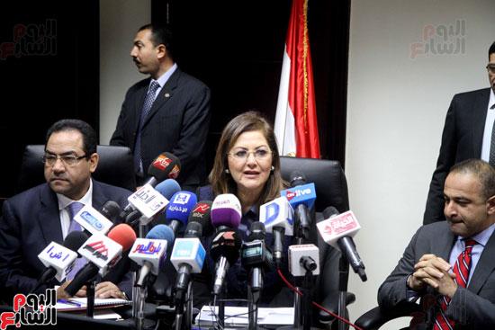 مؤتمر صحفى لوزيرة التخطيط والمتابعة والإصلاح الإدارى (1)