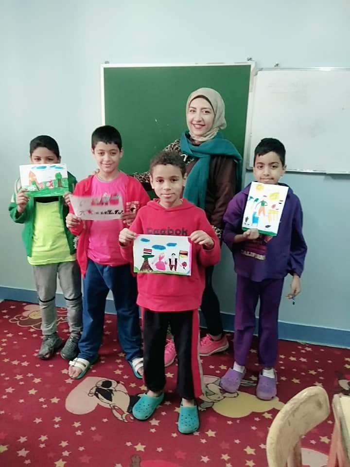 ورش فنية لقصر ثقافة الطفل بدار الهنا لرعاية الأطفال (2)