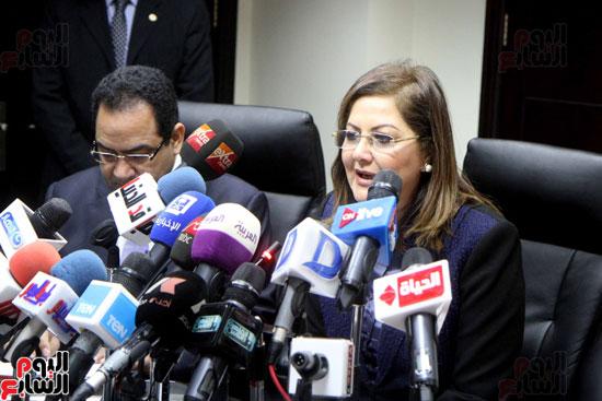 مؤتمر صحفى لوزيرة التخطيط والمتابعة والإصلاح الإدارى (3)