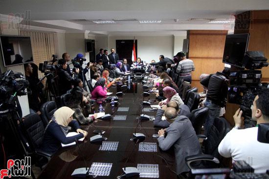 مؤتمر صحفى لوزيرة التخطيط والمتابعة والإصلاح الإدارى (6)