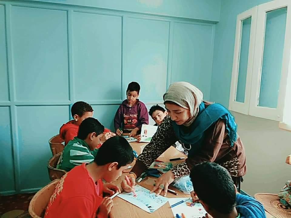 ورش فنية لقصر ثقافة الطفل بدار الهنا لرعاية الأطفال (3)