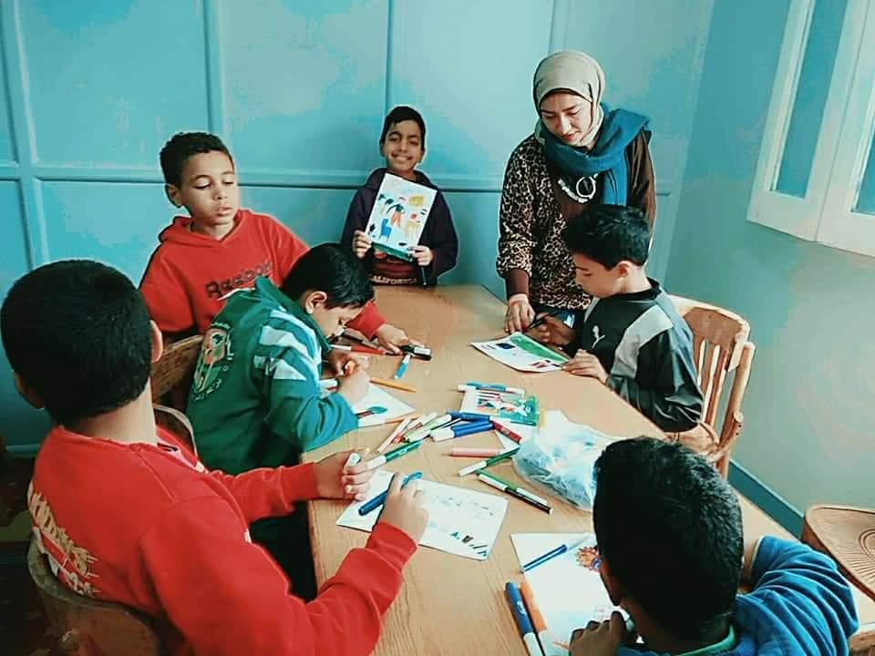 ورش فنية لقصر ثقافة الطفل بدار الهنا لرعاية الأطفال (1)
