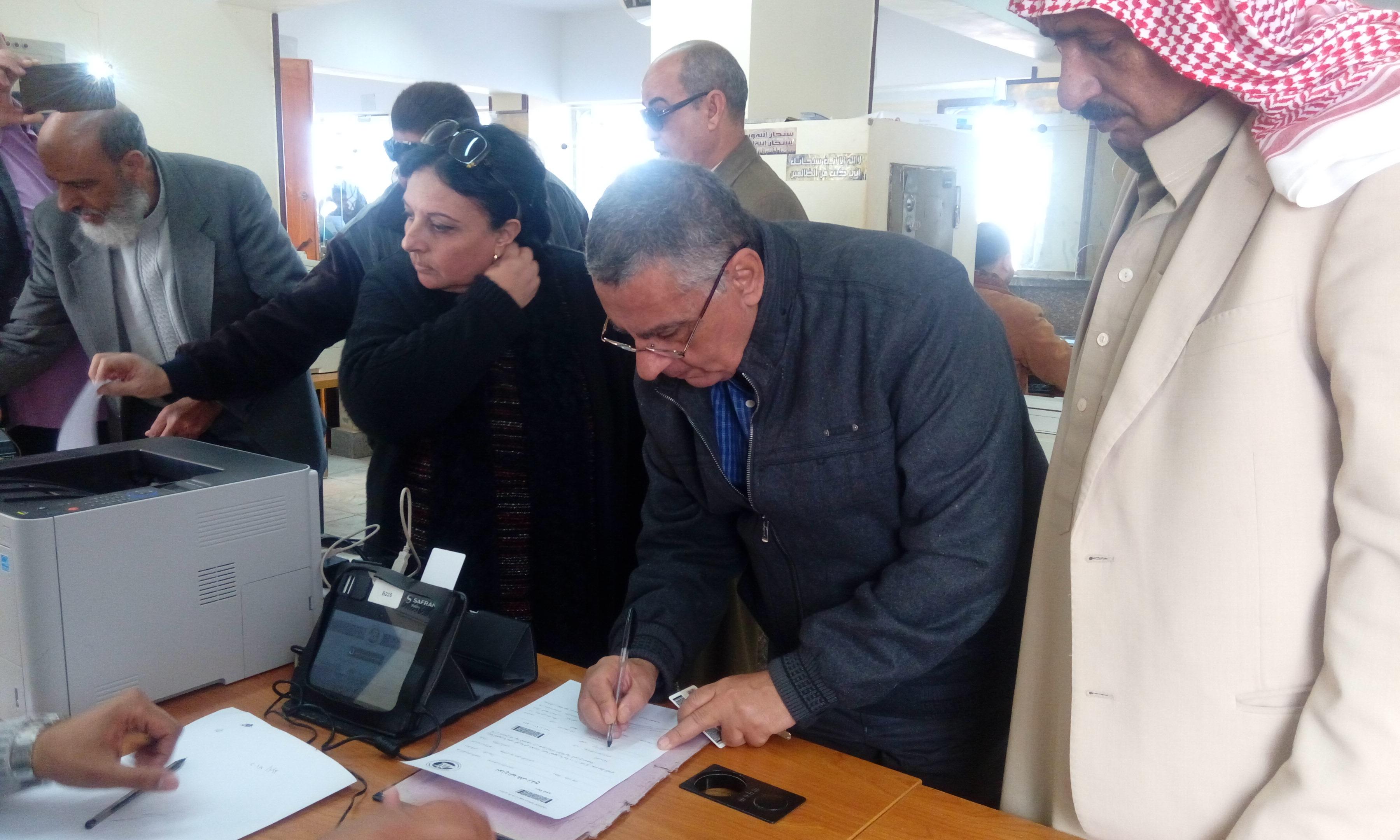 مشايخ البدو يعملون توكيلات الترشيح الرئيس السيسي