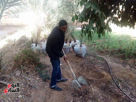 اعمال الزراعة بالمدرسة