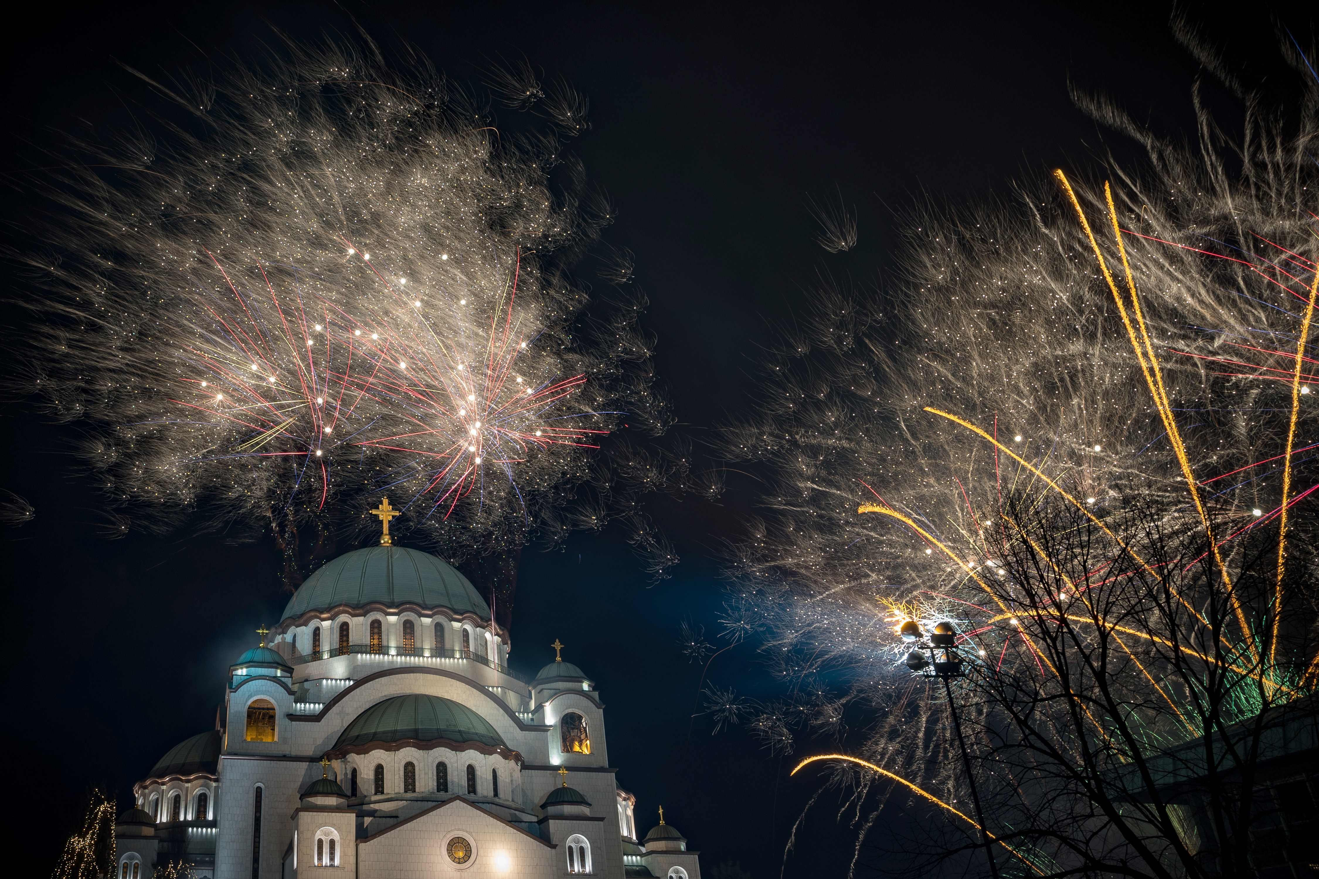 احتفالات فى بلغراد بمناسبة السنة الأرثوذكسية الجديدة