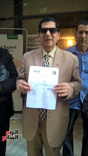 صلاح عثمان وكيل وزارة التعليم بكفر الشيخ يرفع التوكيل للرئيس