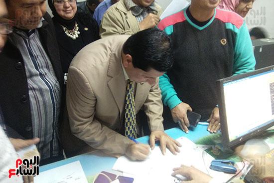 وكيل وزارة التربية والتعليم كفر الشيخ يحرر توكيلا للرئيس