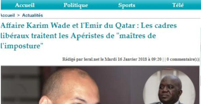 جانب من  تقارير الاعلام السنغالى حول واد