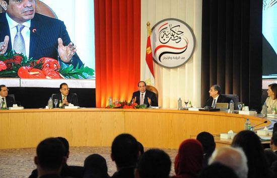 صور الرئيس السيسى فى مؤتمر حكاية وطن (3)