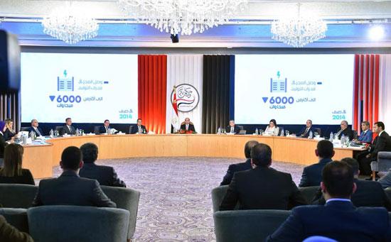 صور الرئيس السيسى فى مؤتمر حكاية وطن (4)