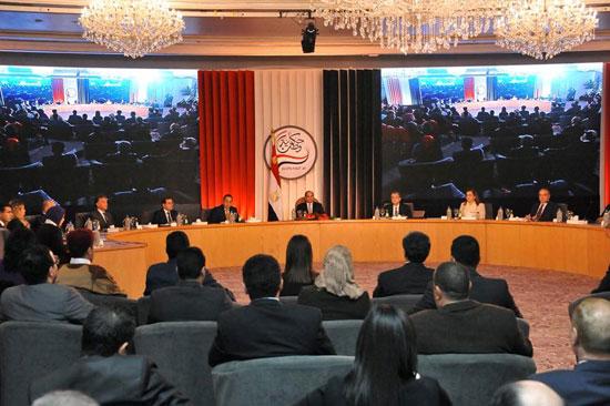 صور الرئيس السيسى فى مؤتمر حكاية وطن (7)