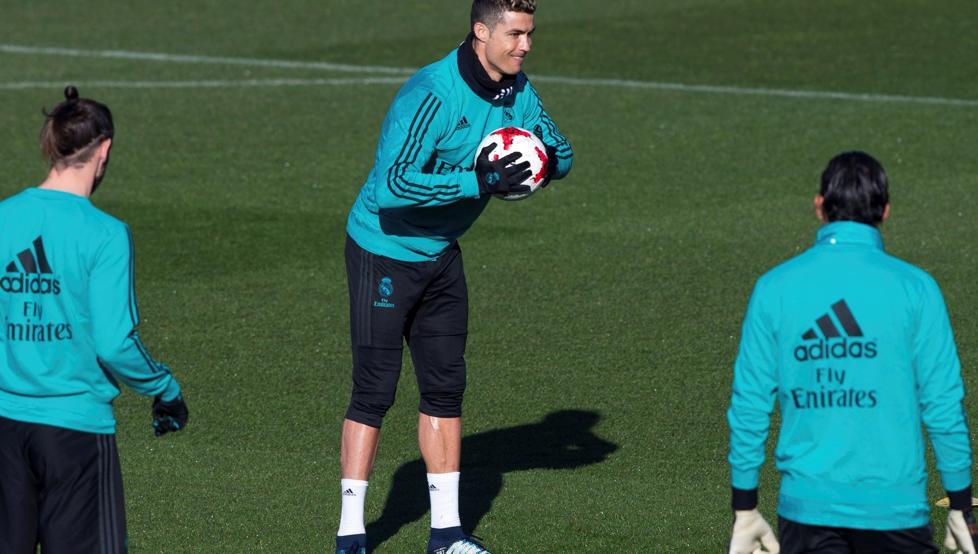 رونالدو فى مران ريال مدريد