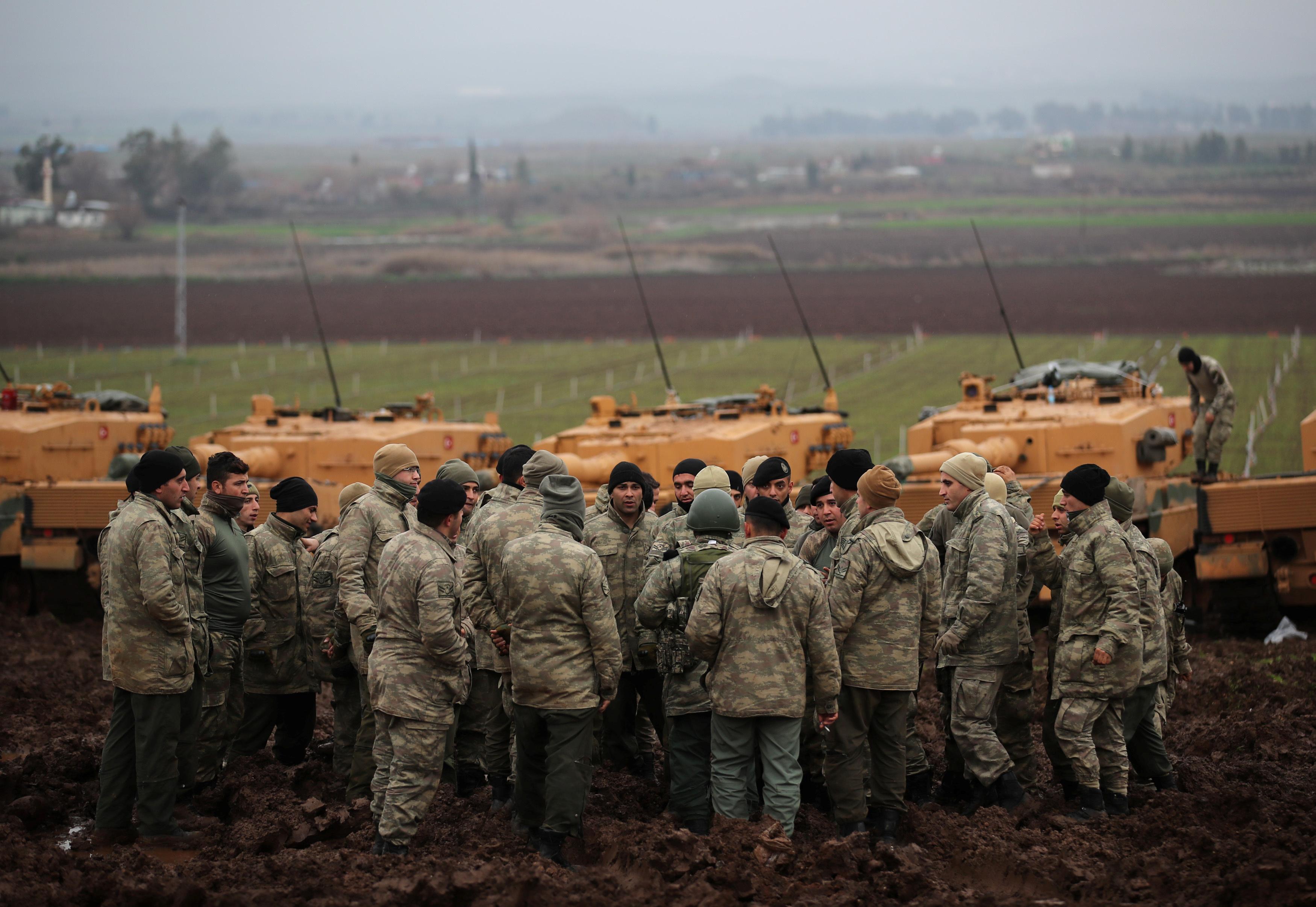 القوات التركية المشاركة فى الحرب على عفرين السورية