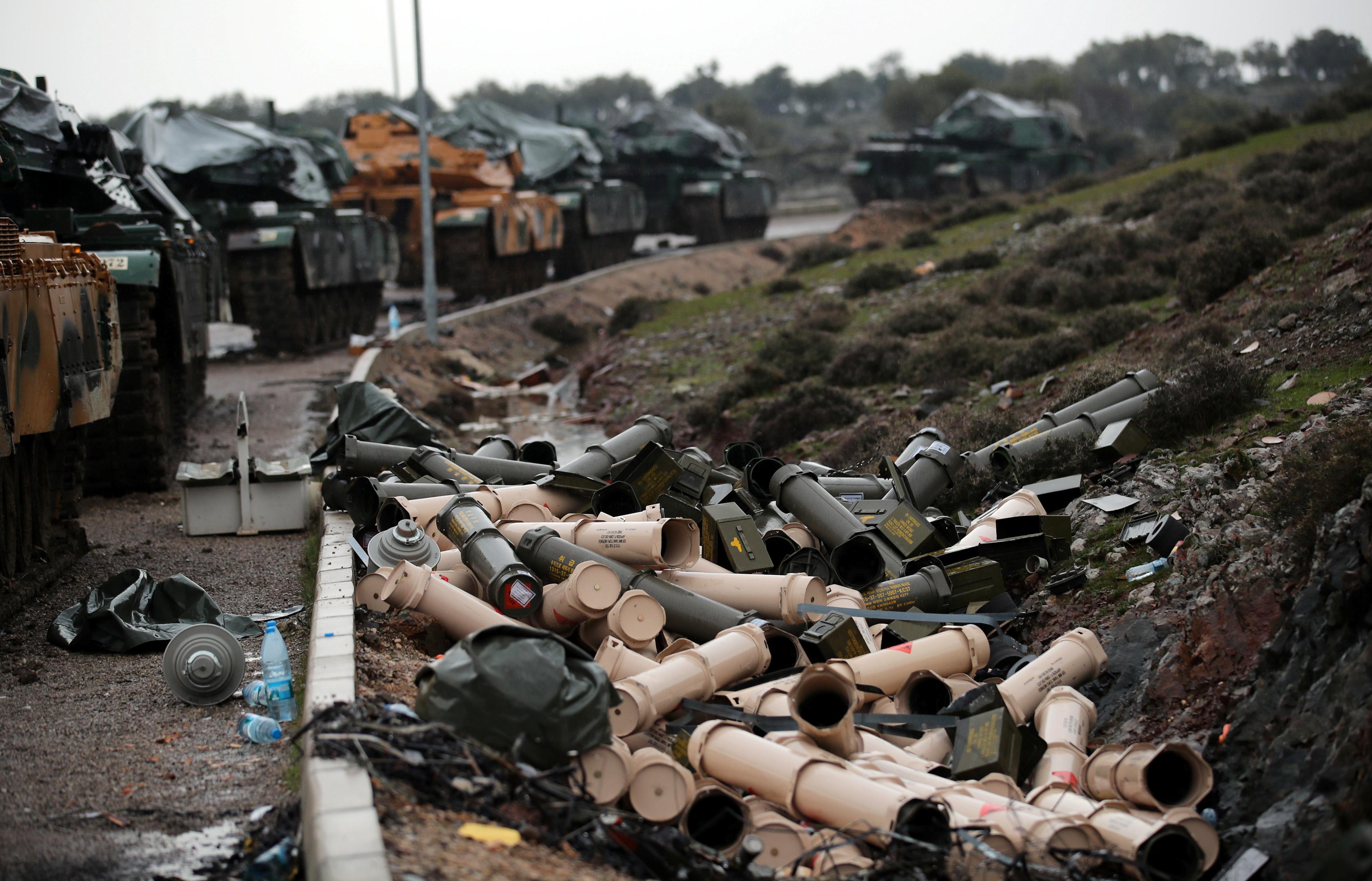 تحركات دبابات الجيش التركى تجاه عفرين السورية