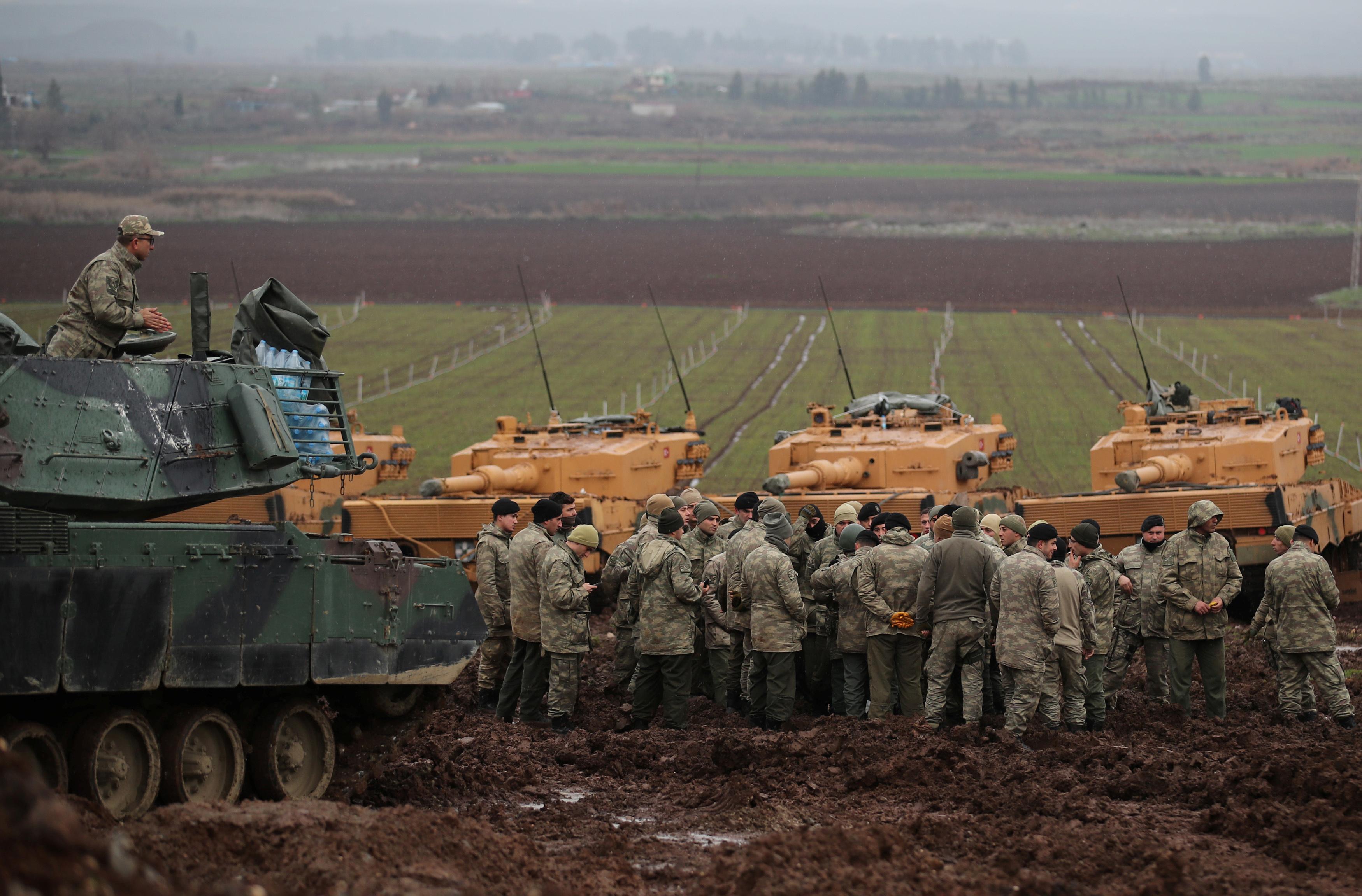 هجوم الجيش التركى على عفرين السورية