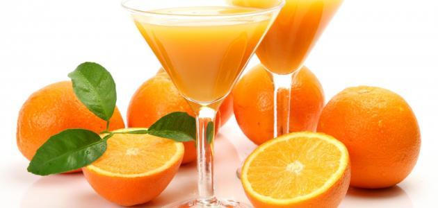 تناول البرتقال المحتوى على فيتامين سى