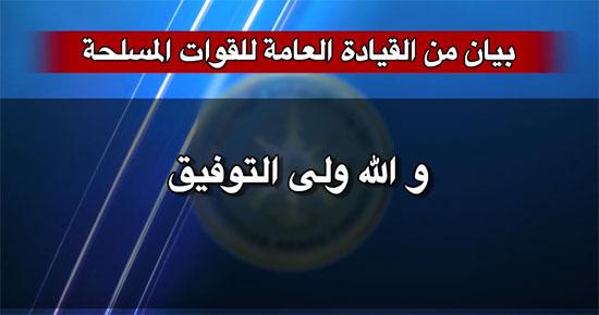 بيان للقوات المسلحة حول سامى عنان (16)