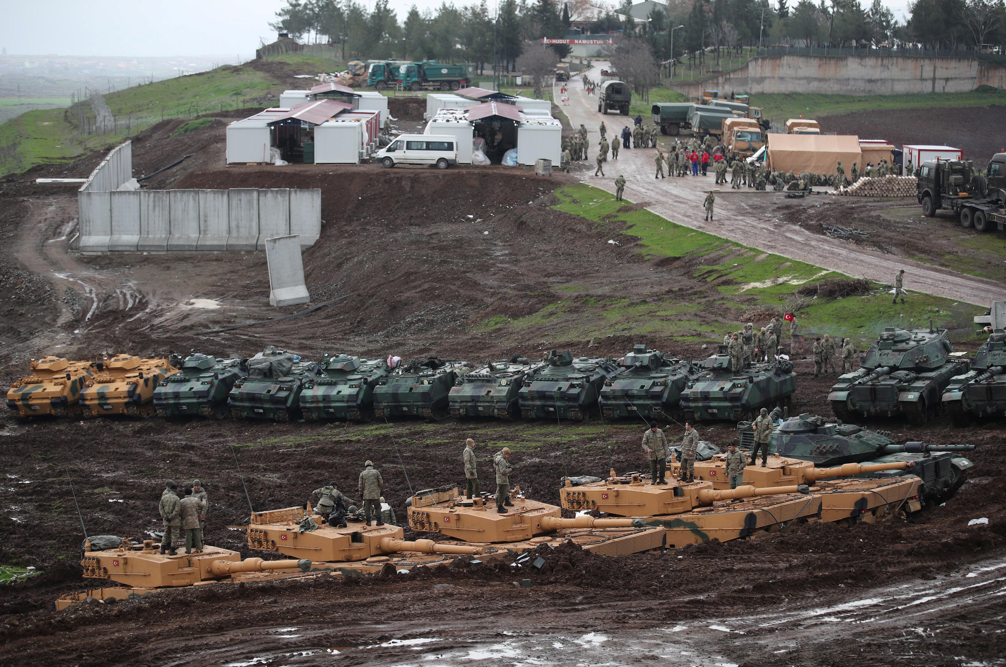 عمليات الجيش التركى فى عفرين السورية