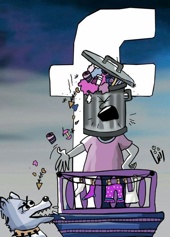 فنانة-الكاريكاتير-رشا-مهدى