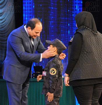 السيسى يحضر احتفاليه الشرطه بالعيد 66 (3)