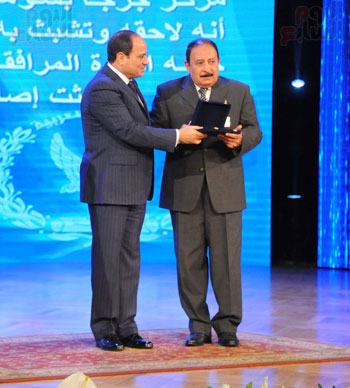 السيسى يحضر احتفاليه الشرطه بالعيد 66 (16)