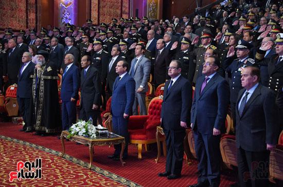 السيسى يحضر احتفاليه الشرطه بالعيد 66 (34)