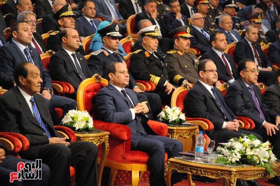 السيسى يحضر احتفاليه الشرطه بالعيد 66 (2)