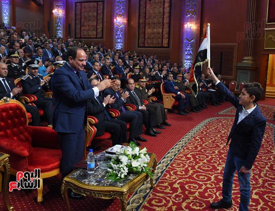 السيسى يحضر احتفاليه الشرطه بالعيد 66 (24)