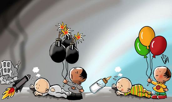 كاريكاتير اليوم االسابع