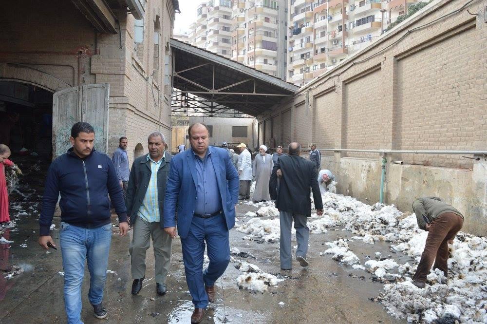 حريق بمحلج تقاوي الأساس بكفر الشيخ
