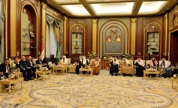 لقاء على عبد العال ورئيس مجلس الشورى السعودى