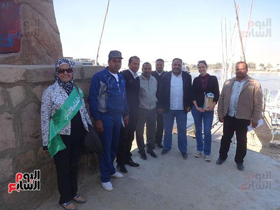 جانب من إطلاق مبادرة لتنظيف نهر النيل بالأقصر