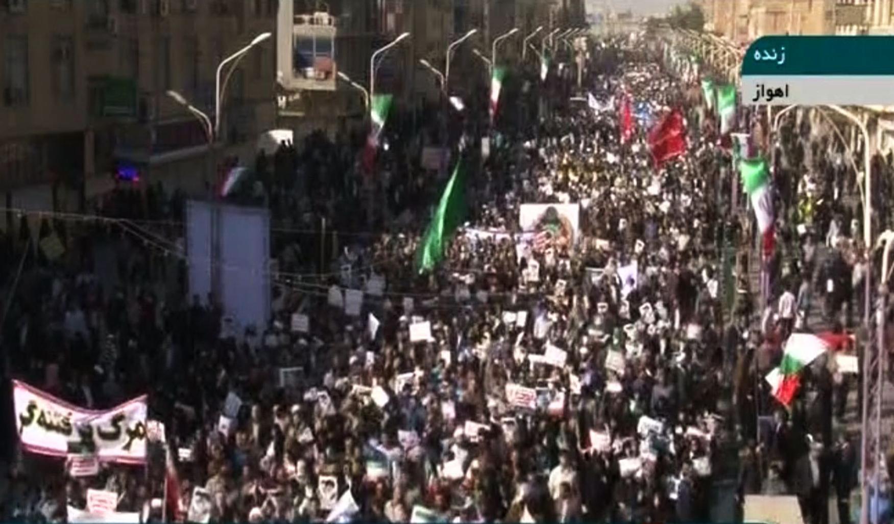 تظاهرات مؤيدة للنظام