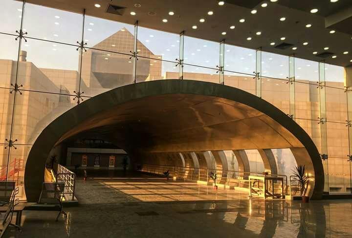 أعمال المرحلة الثالثة بمتحف الحضارة (1)