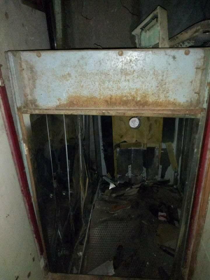 انهيار اسانسير مستشفى بنها العام (3)