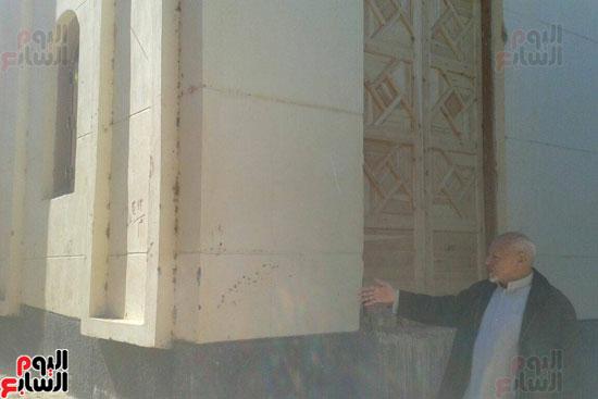 جانب من العمل فى المسجد