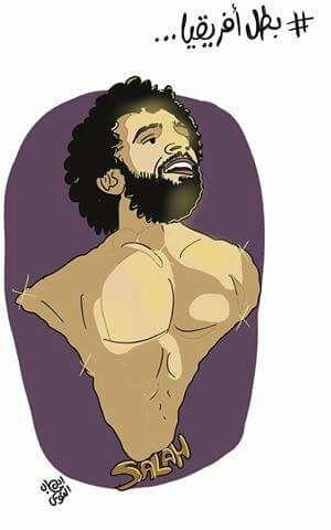 كاريكاتير محمد صلاح بريشة ايهاب النوبى