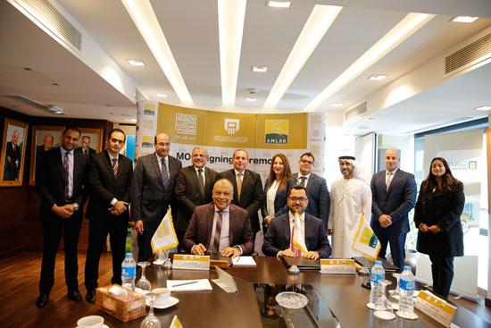 مجموعة-شركات-مرسيليا-توقع-مذكرة-تفاهم-مع-أملاك-الإماراتية-لتطوير-احدث-مشروعاتها-بالقاهرة-(2)