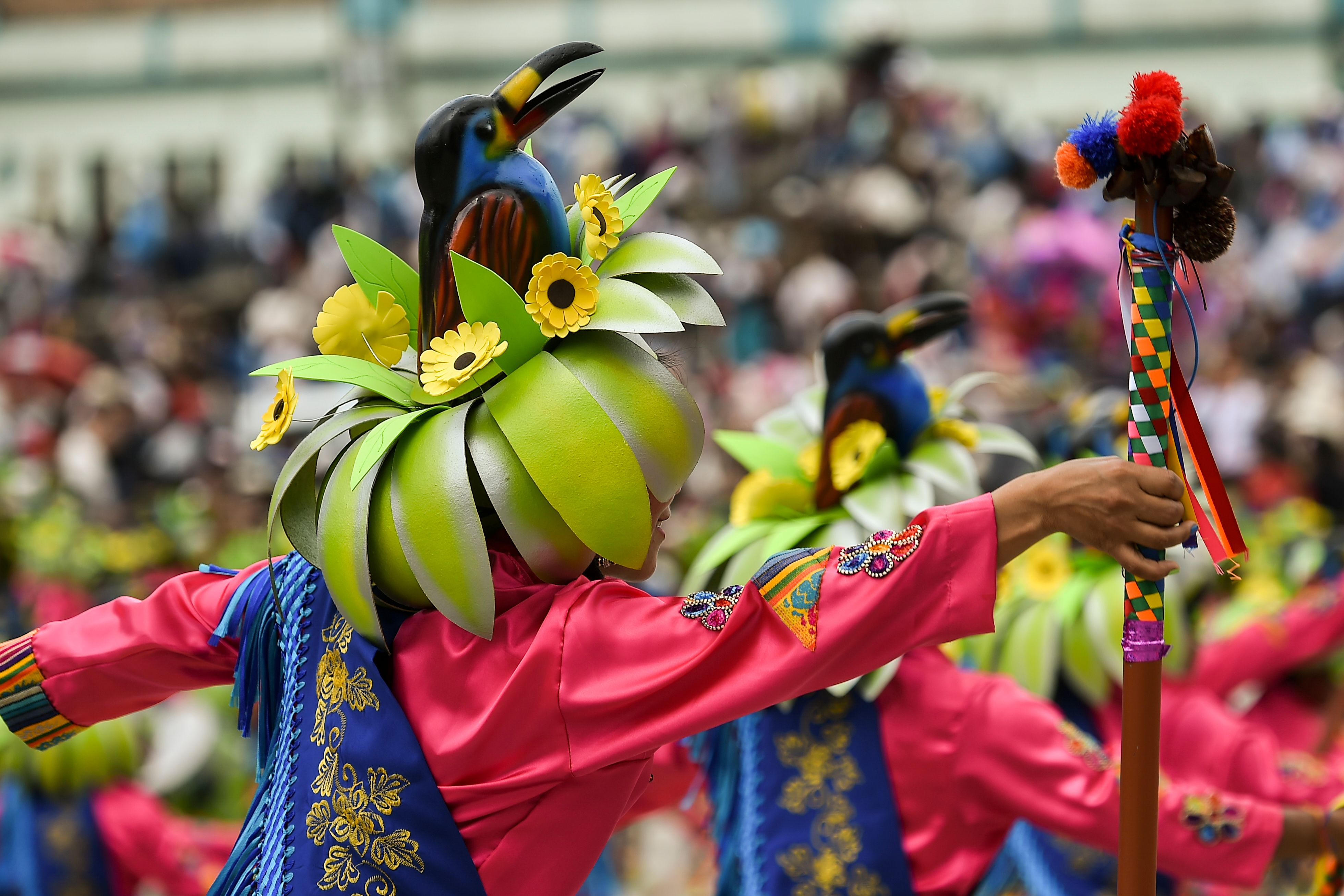 جانب من المشاركة فى مهرجان السود والبيض بكولومبيا
