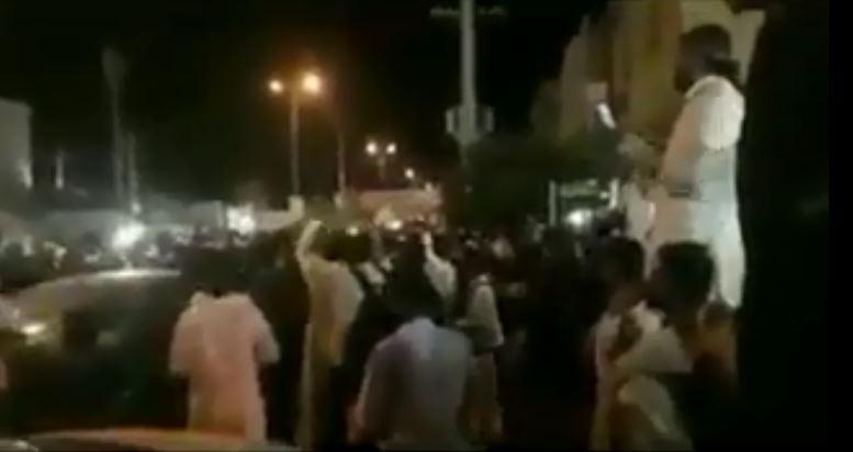 جانب من المظاهرات فى الأحواز