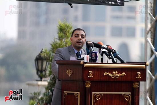 جانب من حضور احتفالية سفارة العراق يقرأون الفاتحة على أرواح شهداء العراق